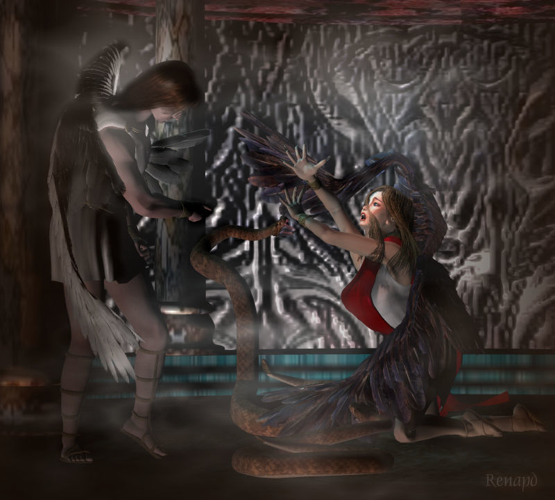 No Mercy for a fallen angel ! by -renapd-