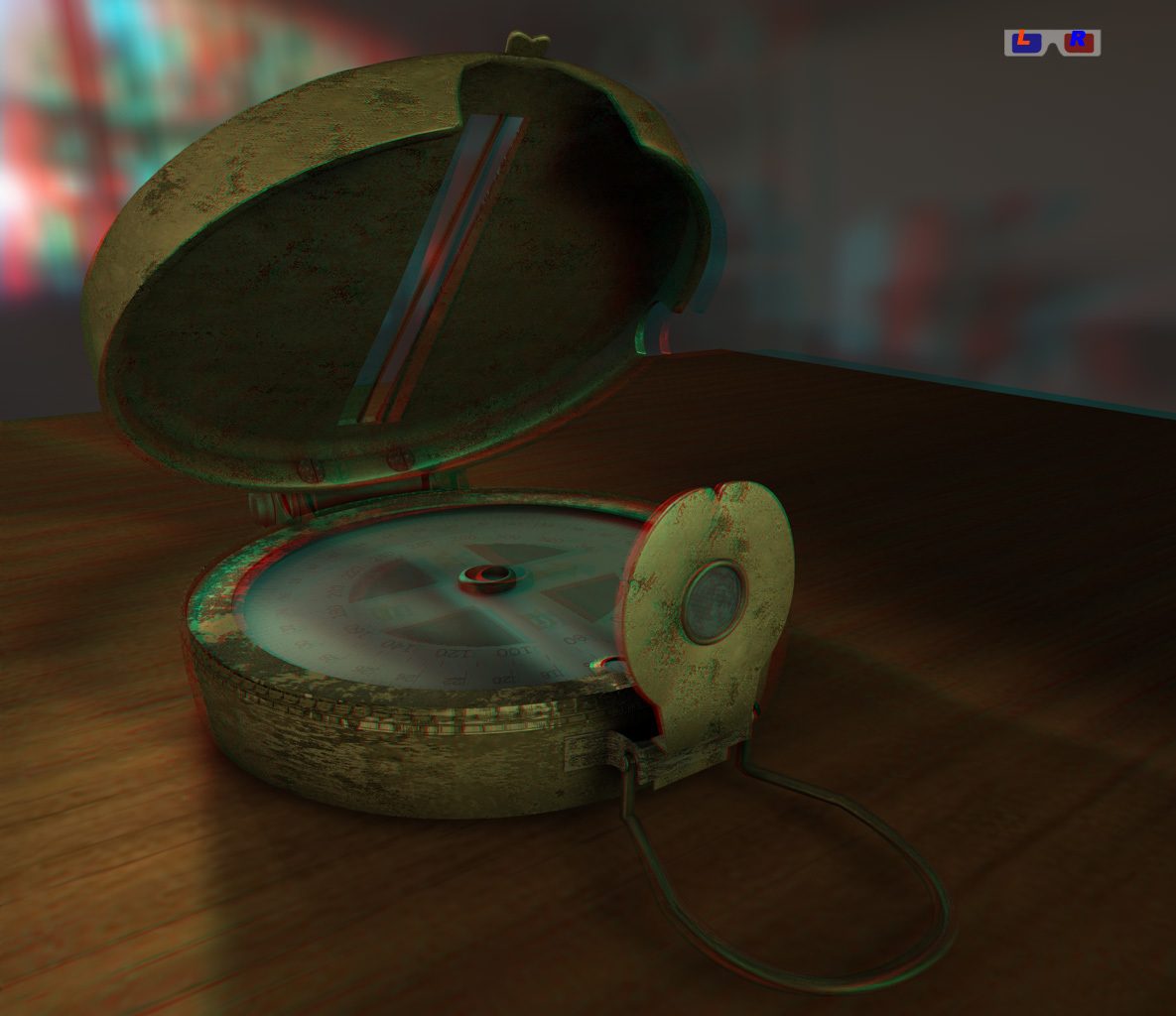 compass for 3d glasses