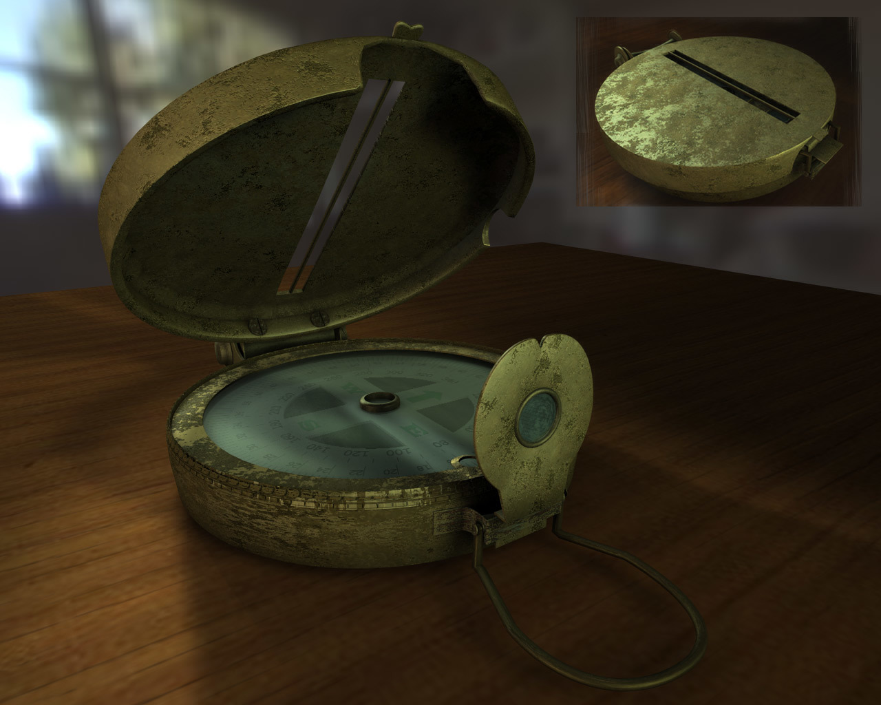 Old compass by ronjonk
