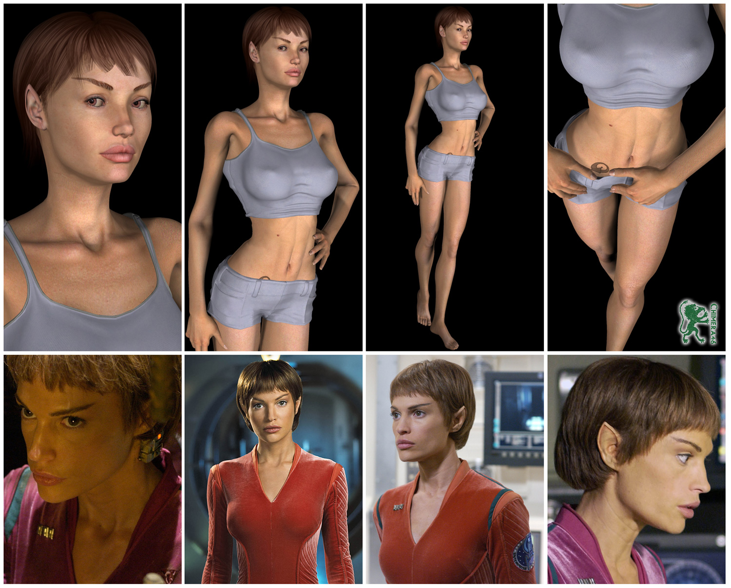 Project T Pol From Star Trek Enterprise By Chimera46 Poser Science Fiction