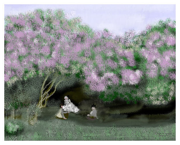 Beneath the Lilacs-Impression