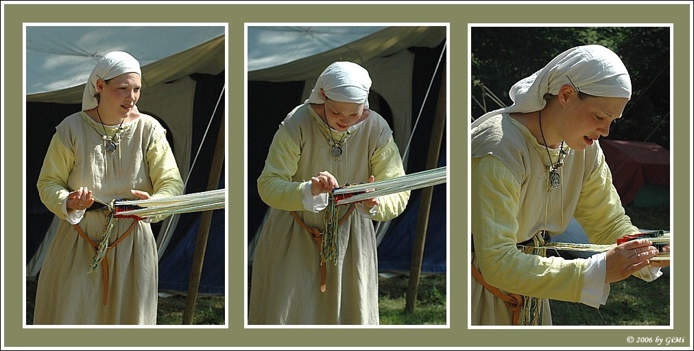 Card (or Tablet) Weaving [Triptych]