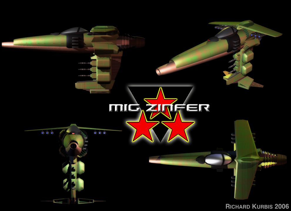 MIG Zinfer Space Fighter by Magnatude