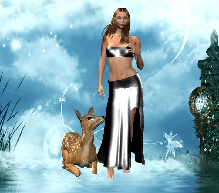 *~*Girl with her Fawn*~*