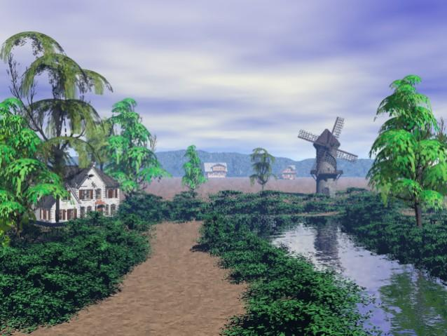 A Country Lane by 3DMISFIT