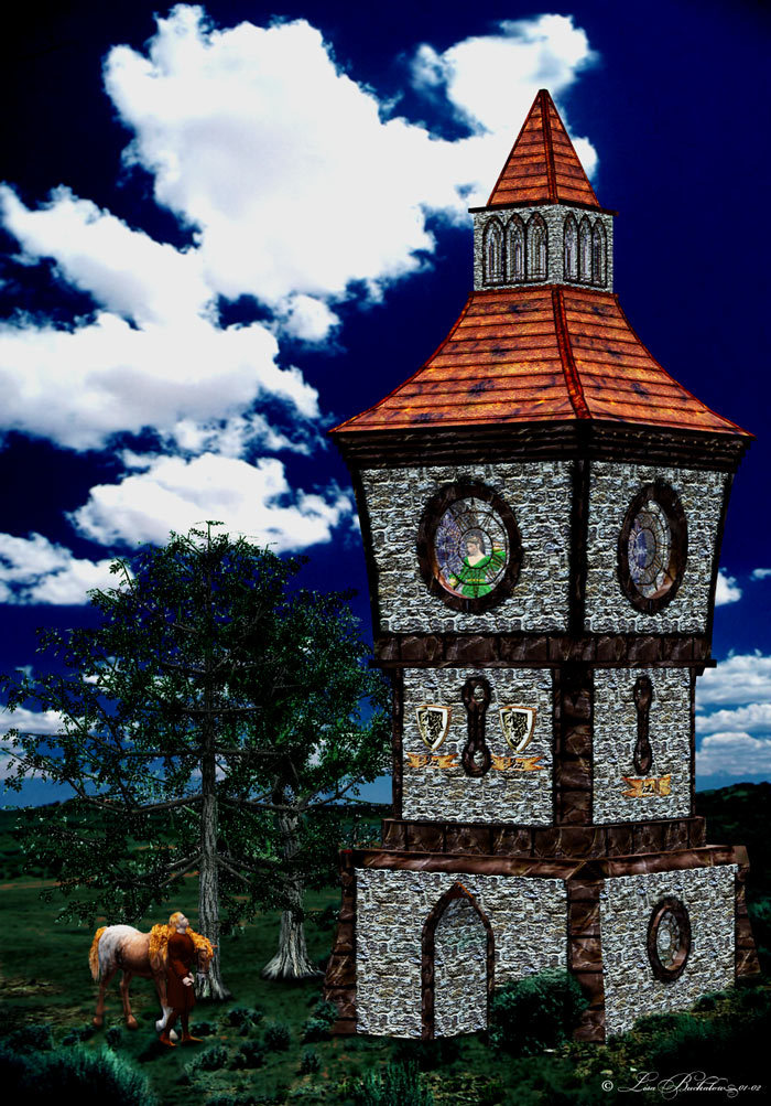 Old Town Tower by Lisas_Botanicals
