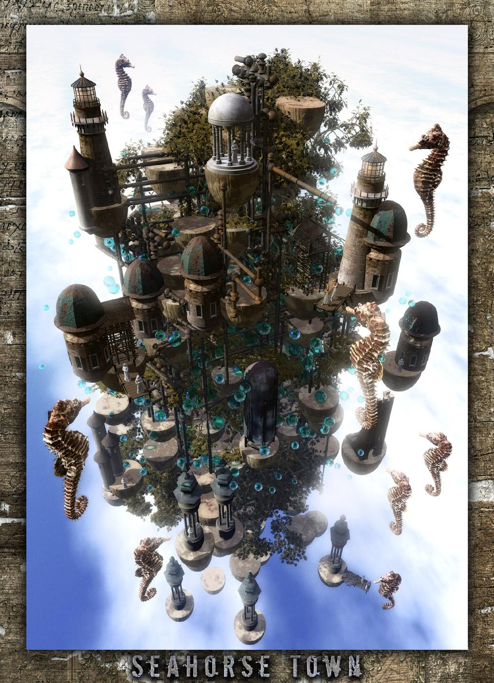 Seahorse Town by brylaz