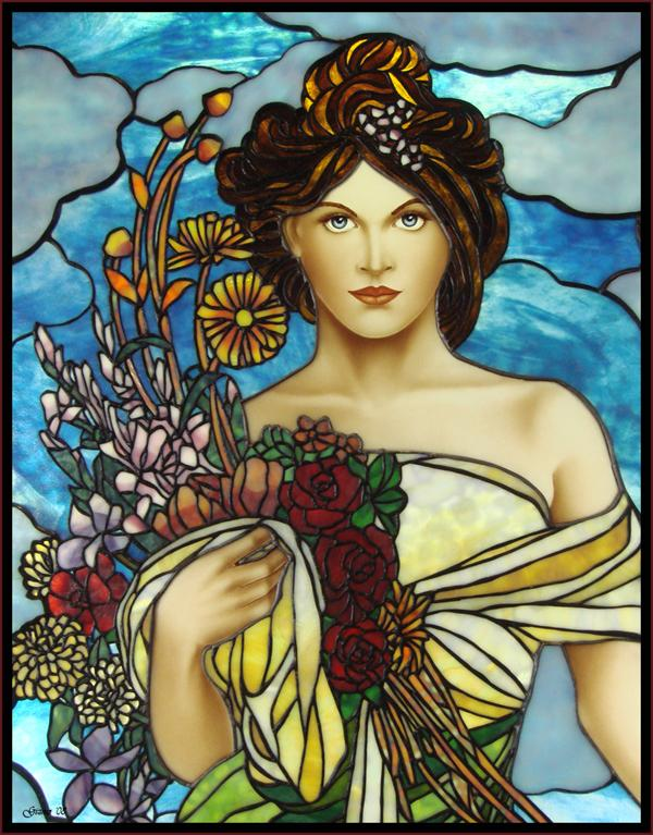 Stained Glass Portrait Study 3