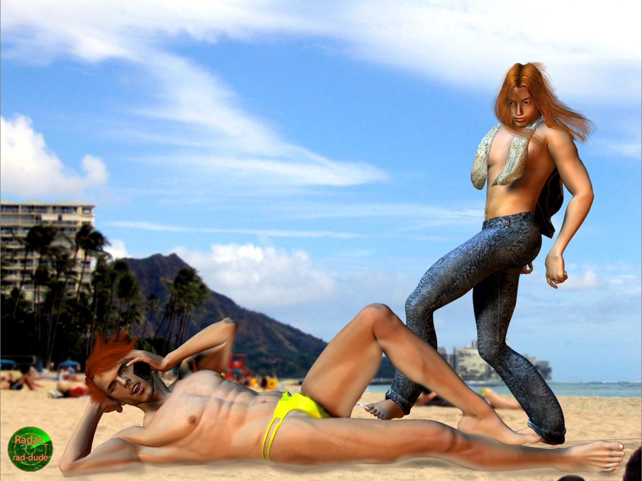 Beach patrol? That long red haired stalker's back!