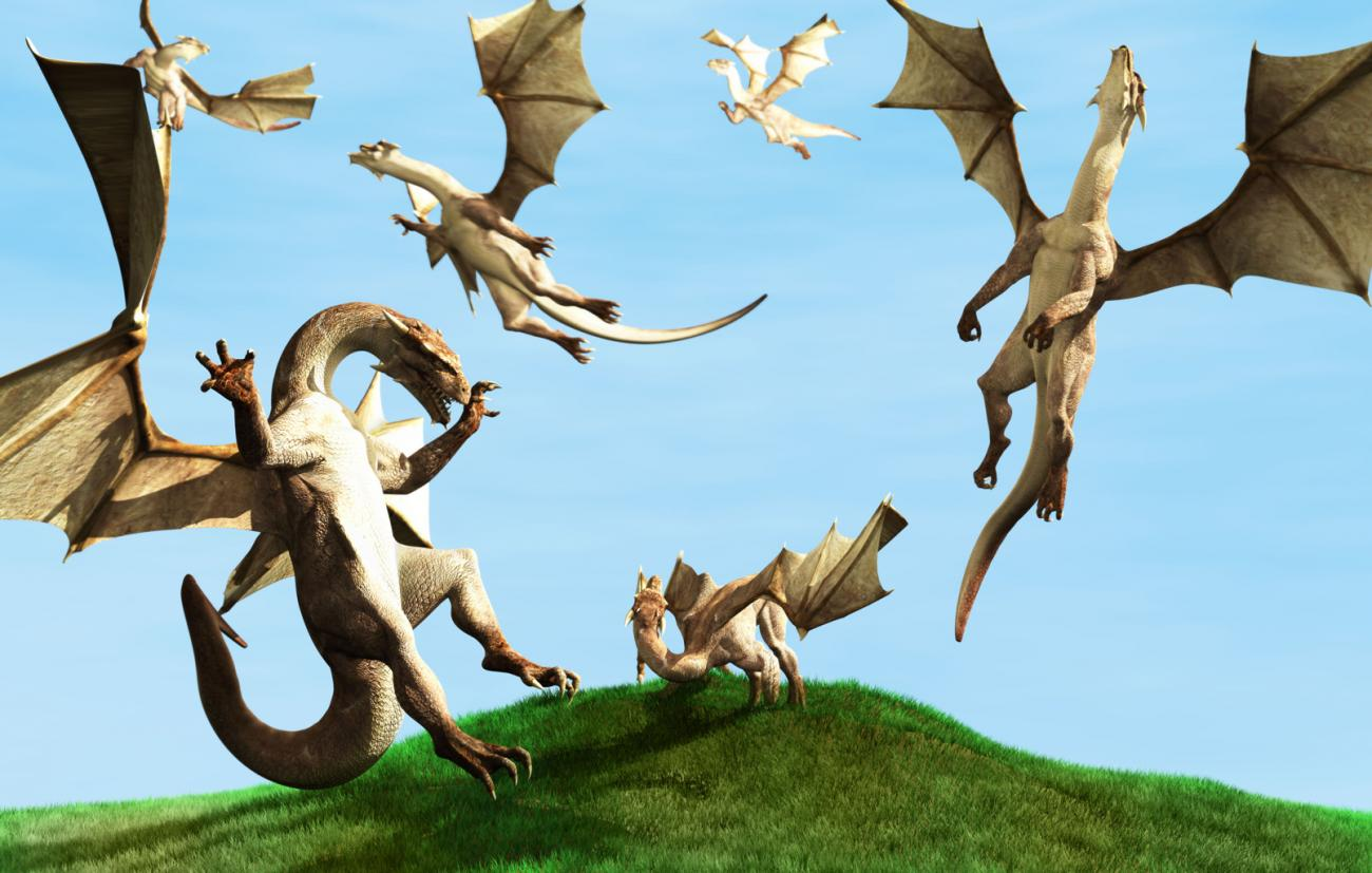 Dragon Flock (full) by Arien