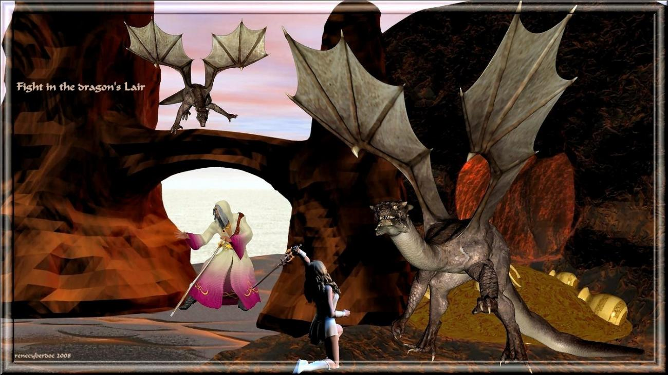 Fight in the dragon's lair by renecyberdoc