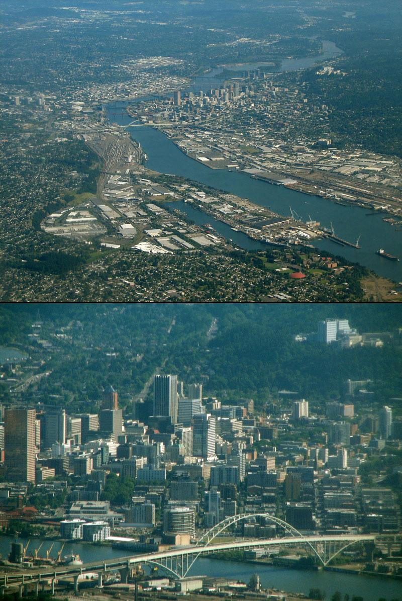 Portland, Oregon from the air