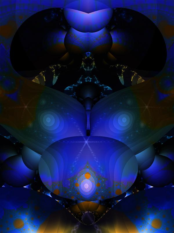 Fractal Exploration 4 (Rhapsody in Blue) by Homus_Artistic
