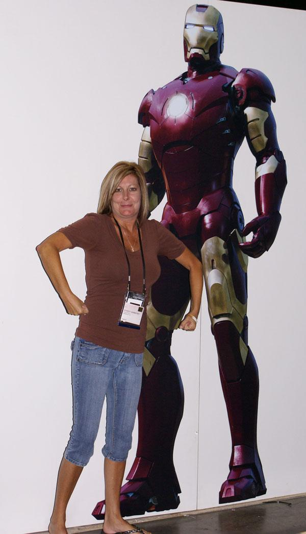 Stacey vs. IronMan by Debbie M.