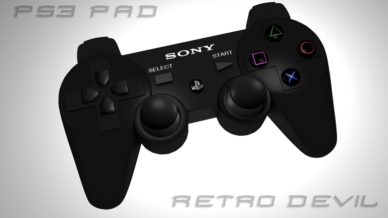 PS3 control pad model by RetroDevil