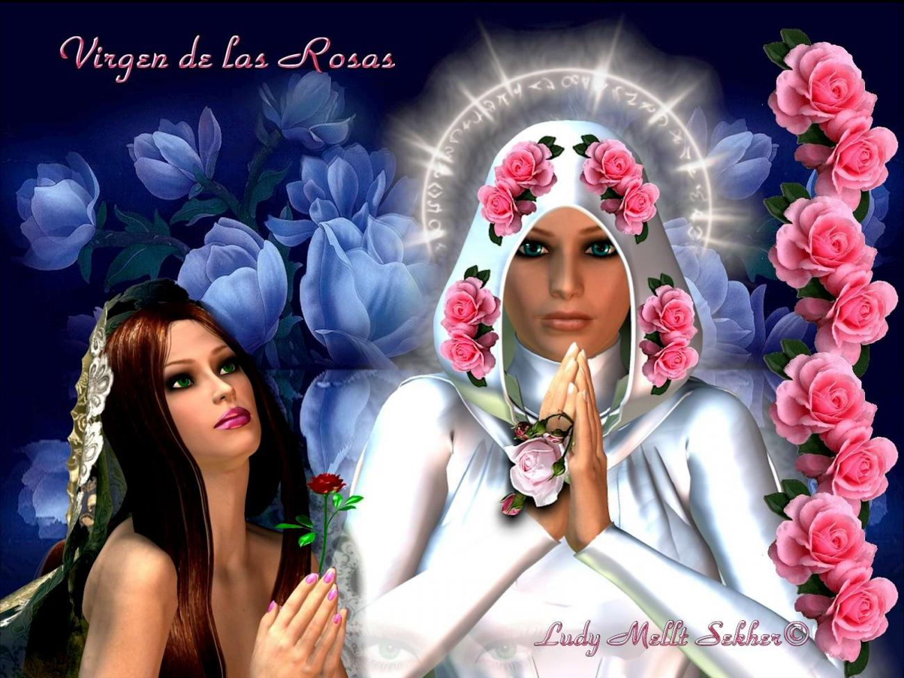 Virgin of the Roses (for all my friends sick) by LudyMelltSekher