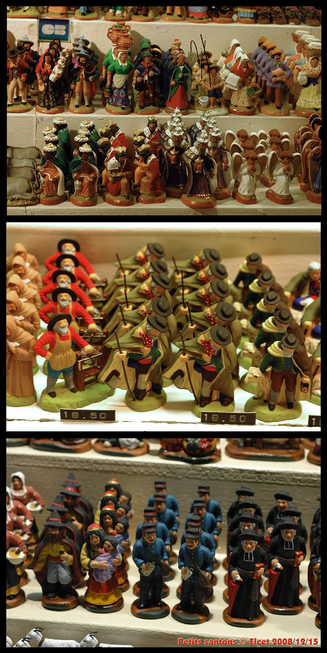 Little santons (Christmas statues) by Elcet