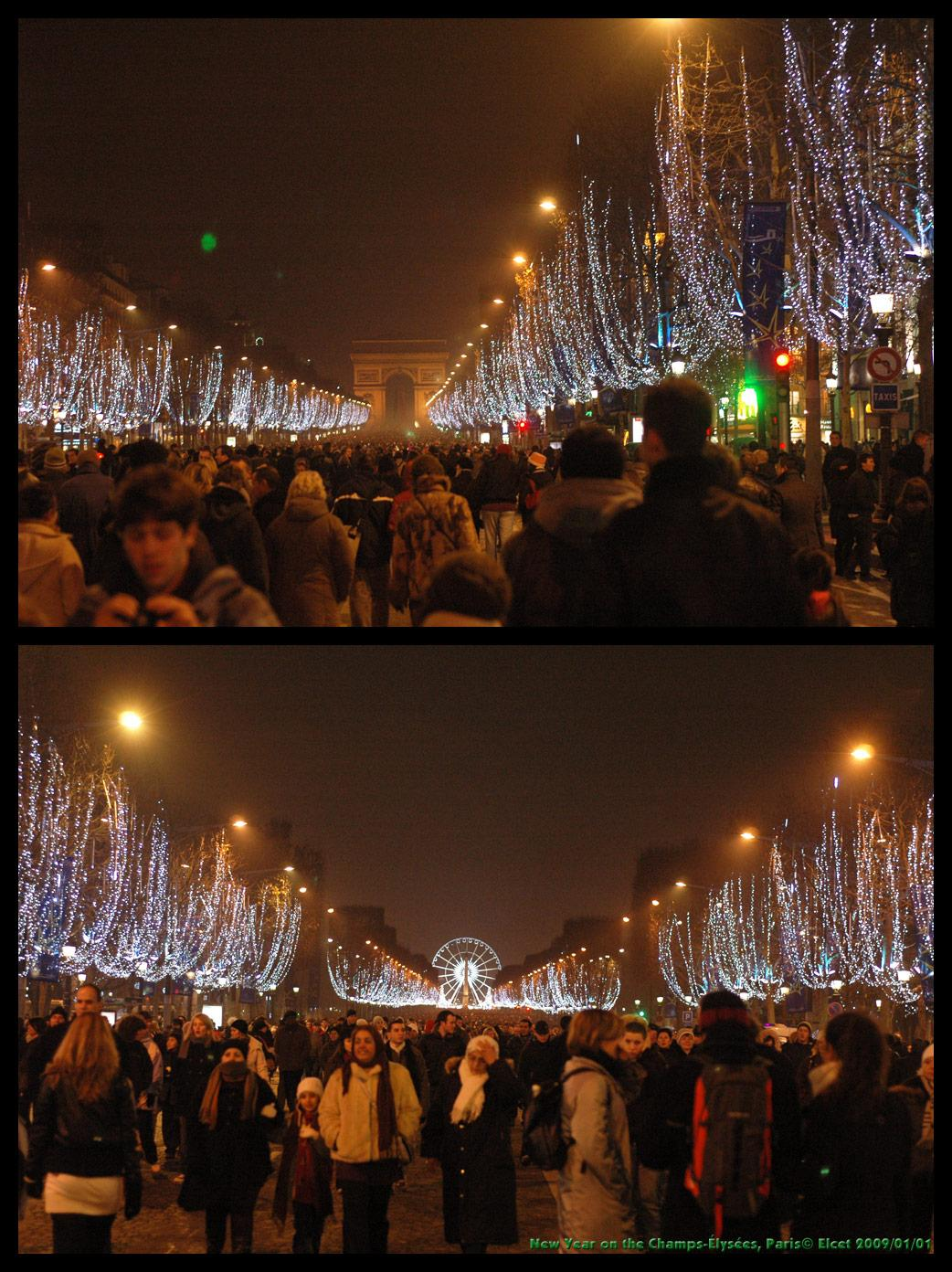 New year on the Champs-Elysees, for my friends by Elcet