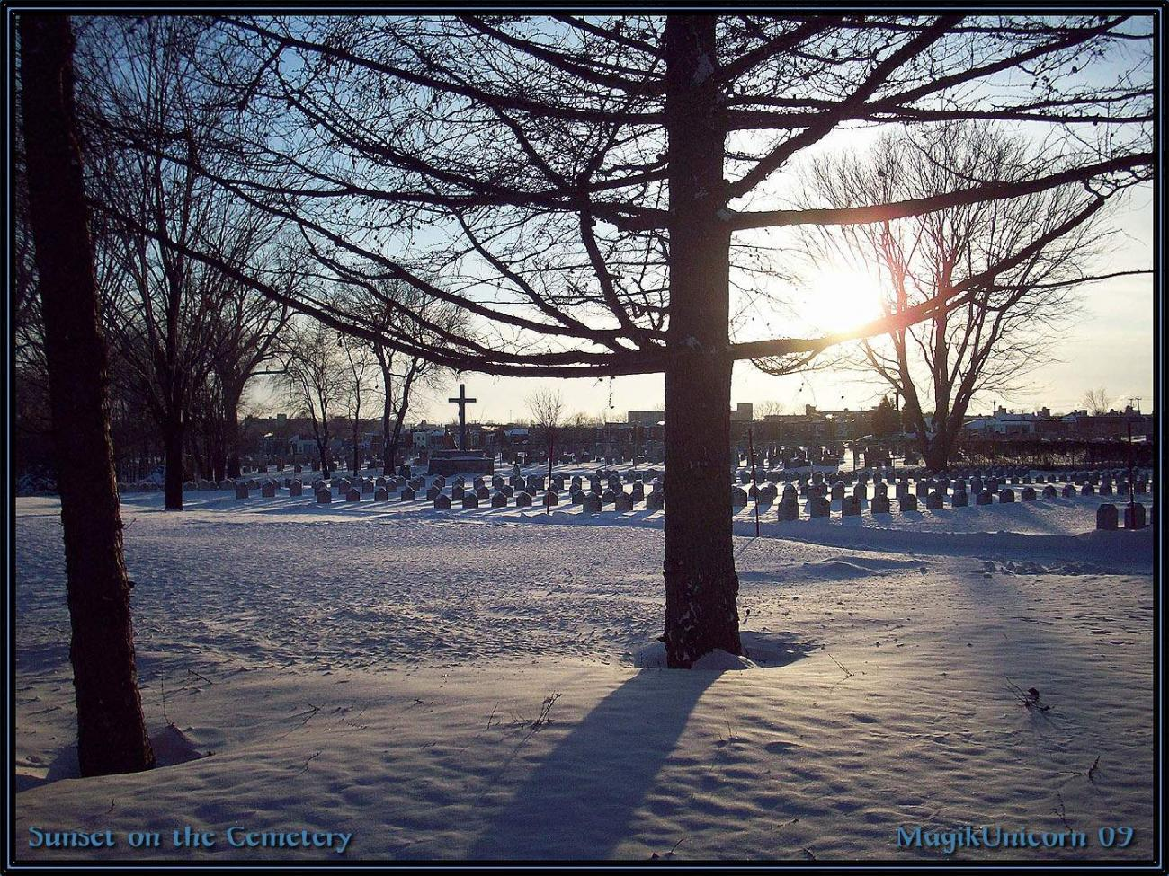 Sunset on the Cemetery