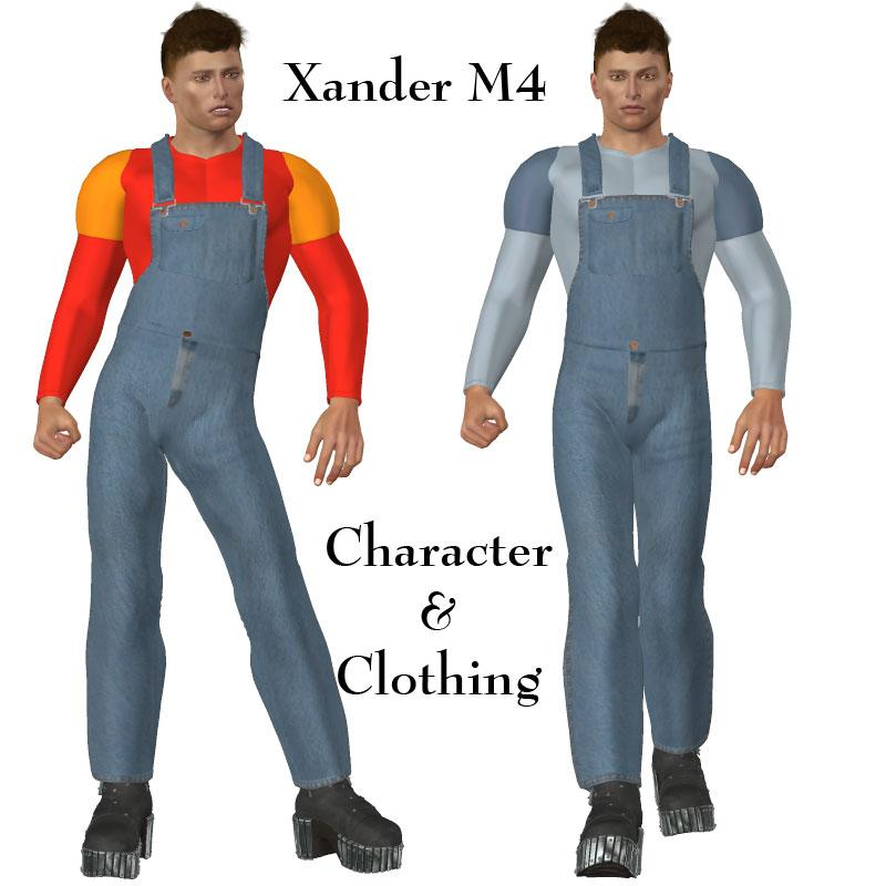 Xander M4 Character and Clothing by OKCRandy