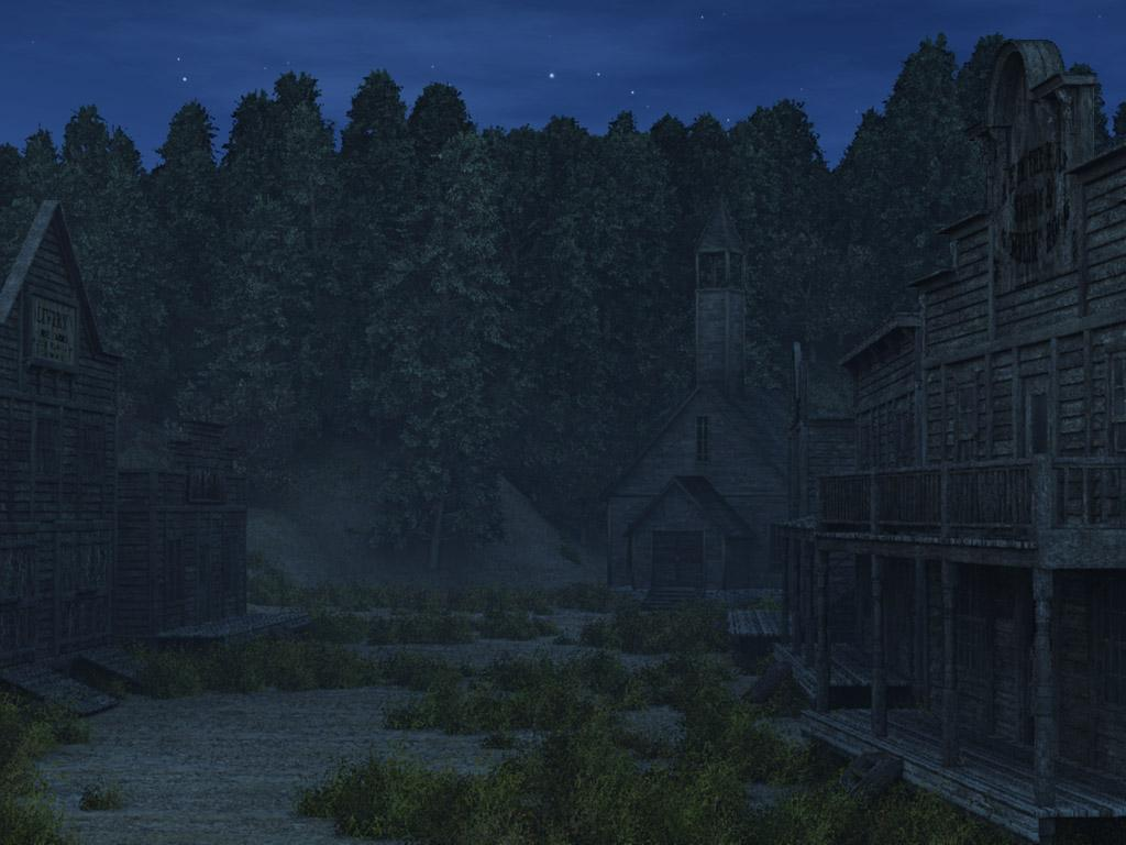 Ghost Town at Night by chriscox