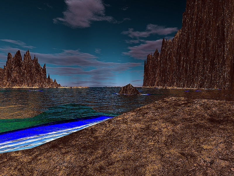Surreal Beach by KiDAcE