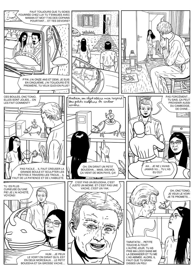 Silvia 15: comic page creation 4, inked page by Elcet