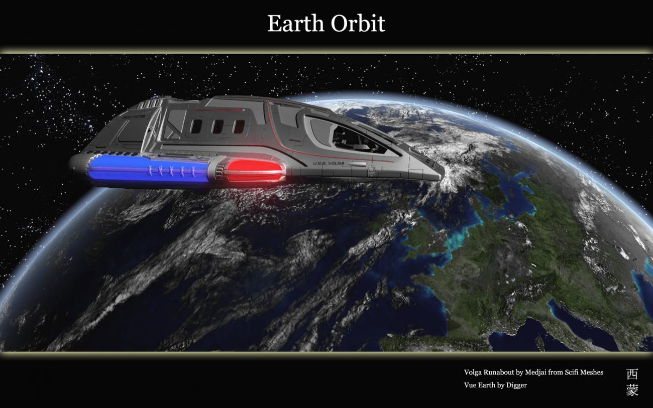 Earth Orbit by Digger2000