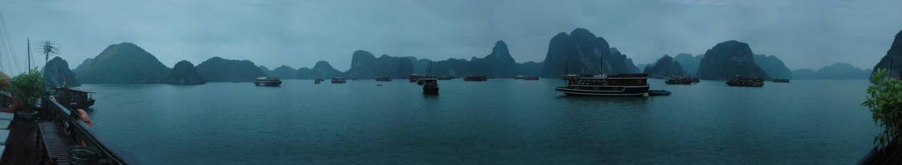 Ha Long Bay night panorama, for jd35400 by Elcet