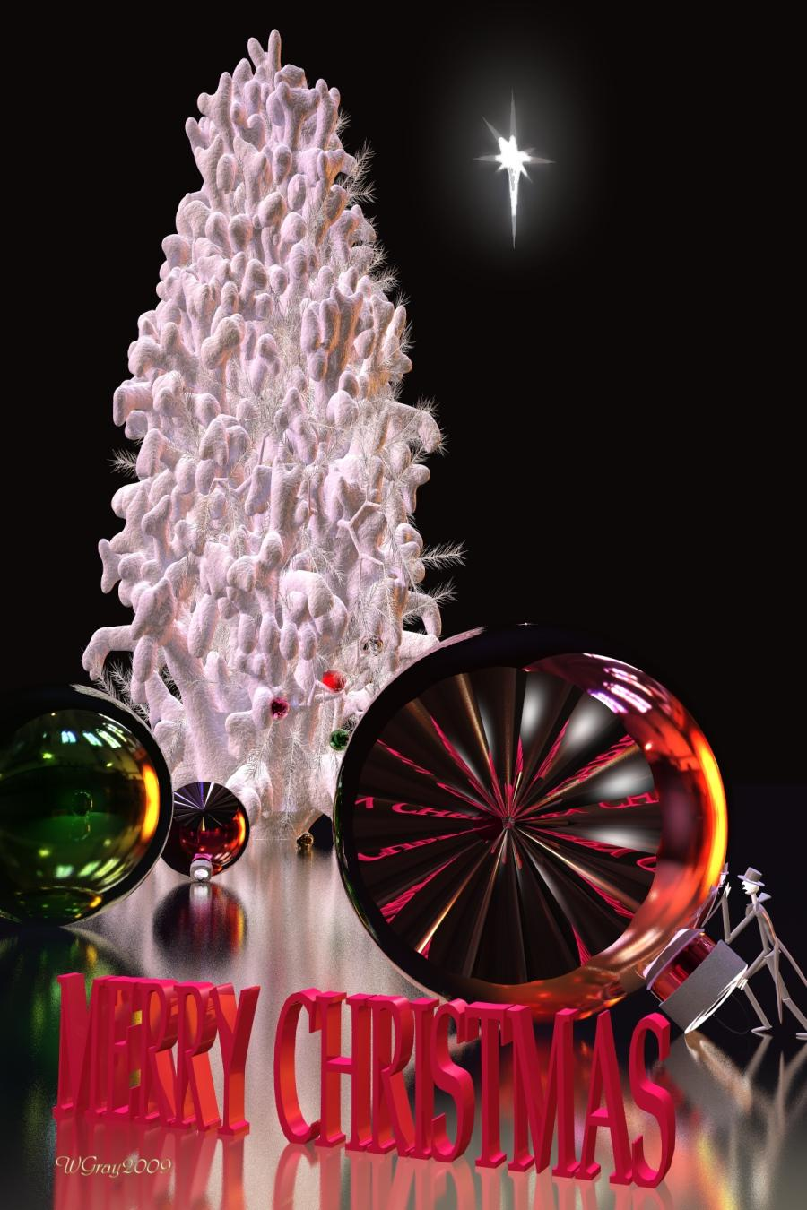 Merry Christmas To All At Renderosity by skiwillgee