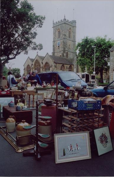 The antique stall.