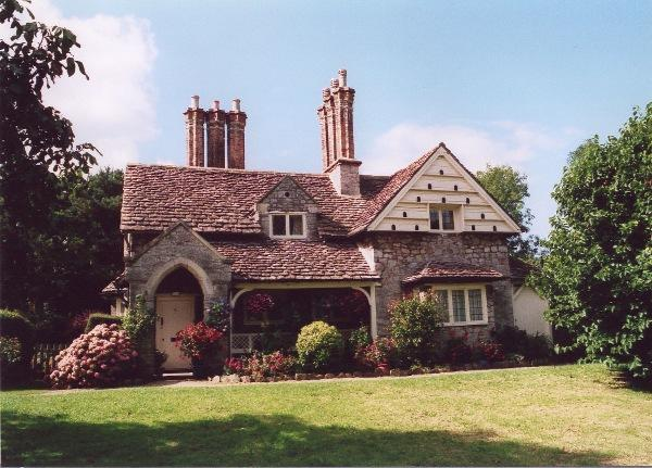 Dove cot and chimneys.