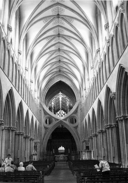 Inside Wells Cathedral.