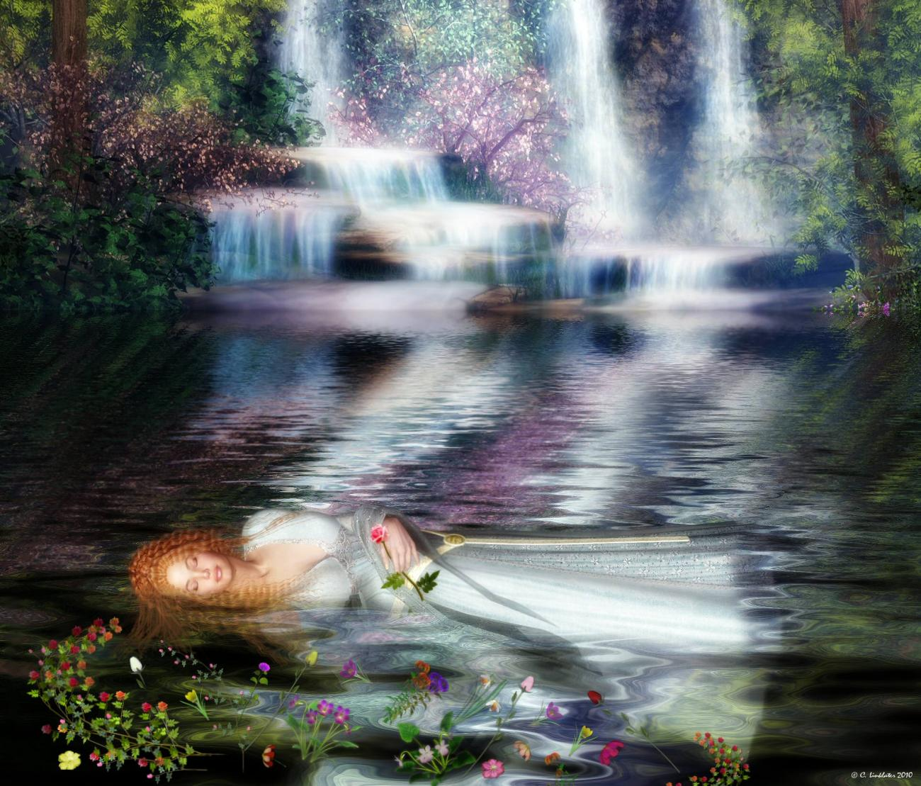 The Last Repose of Ophelia by Adrella