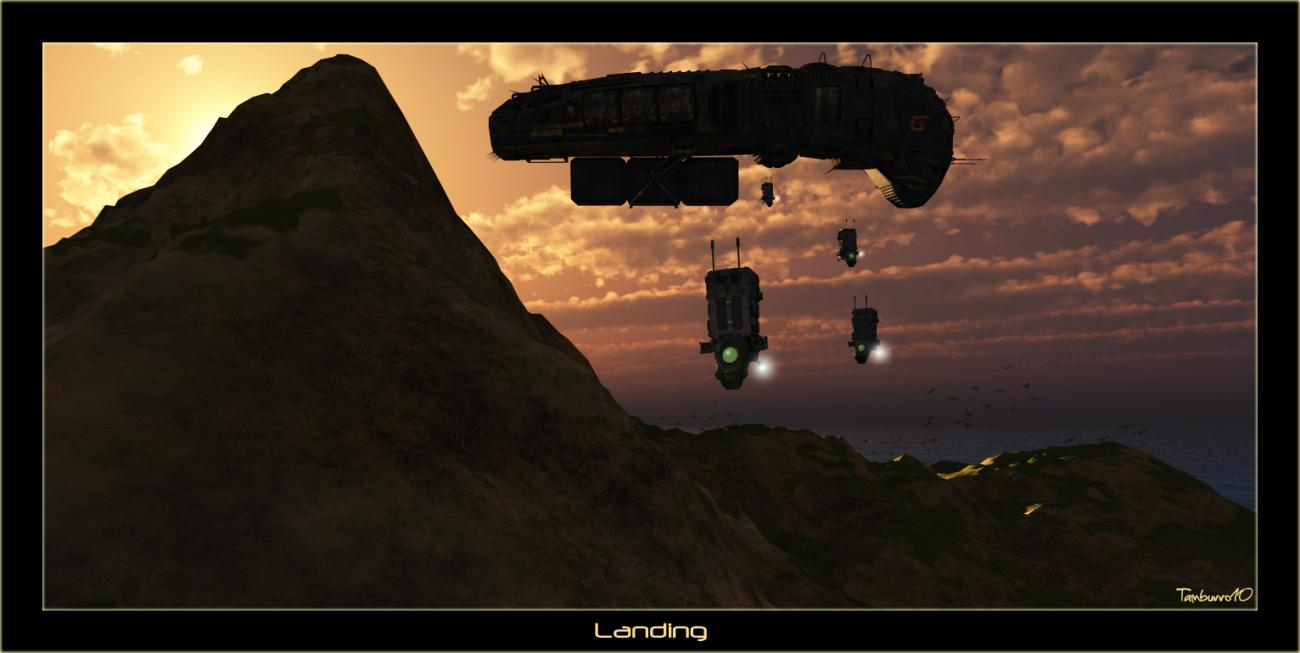 Visions of the Future: Landing by tamburro