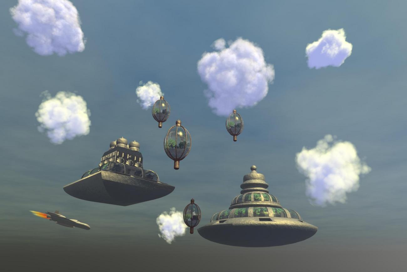 City in clouds. by DukeNukem2005
