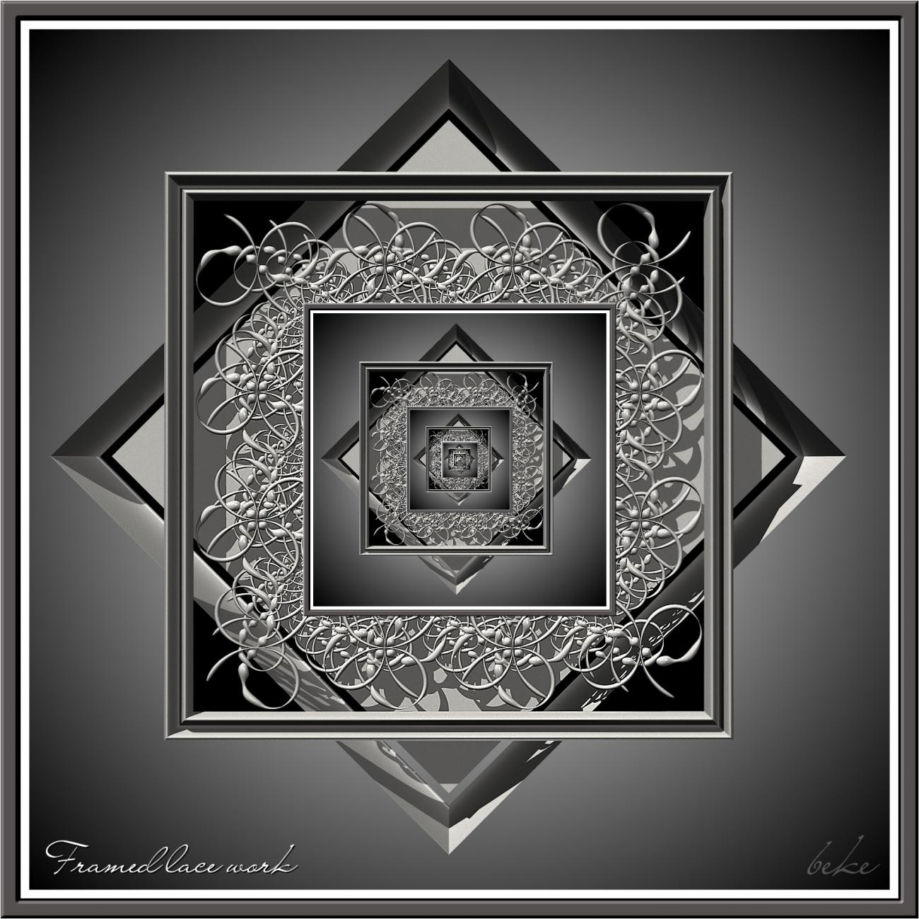 Framed lace work by fractalbeke