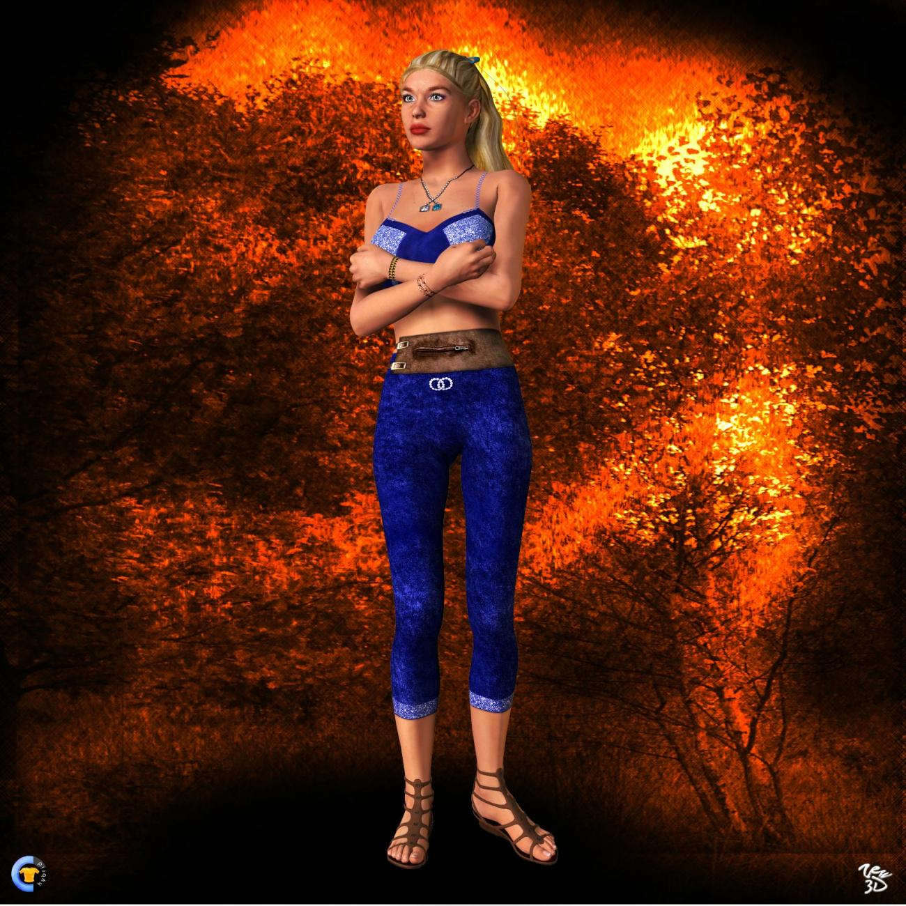CLOTHER Hybrid - Fire around me by zew3d