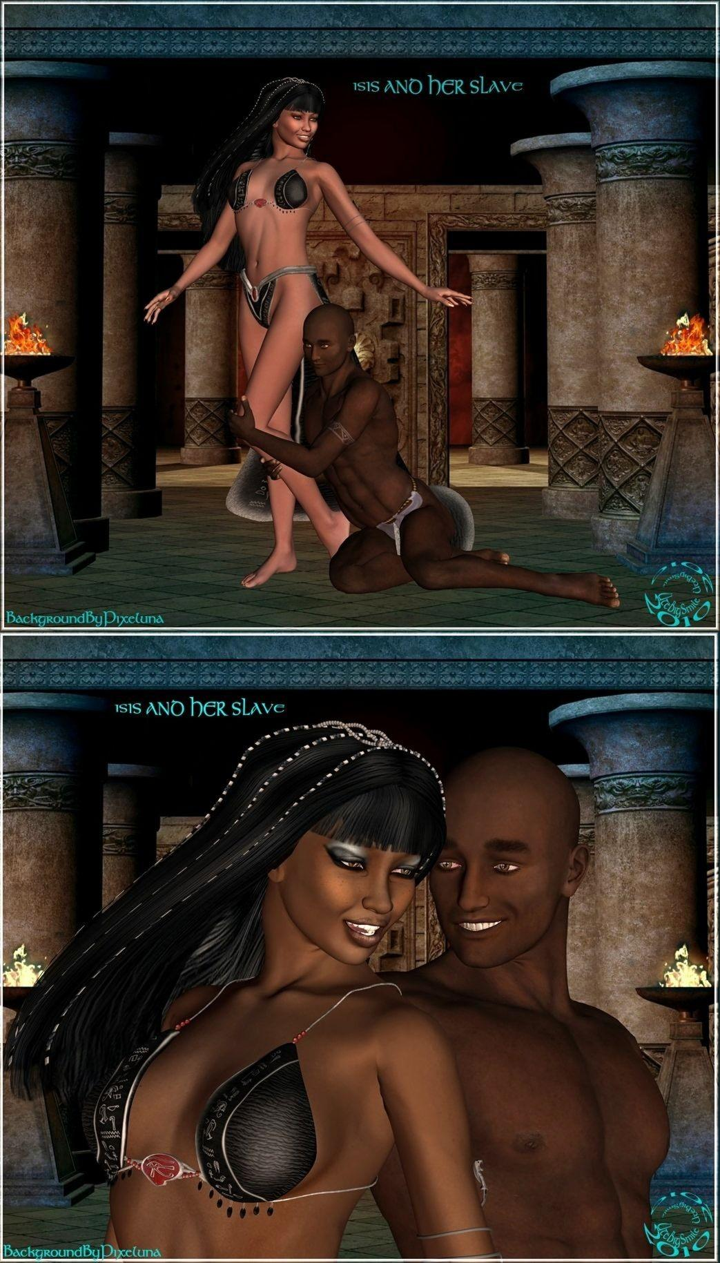 Isis and her Slave   (for missblue & angelafair)  by UteBigSmile