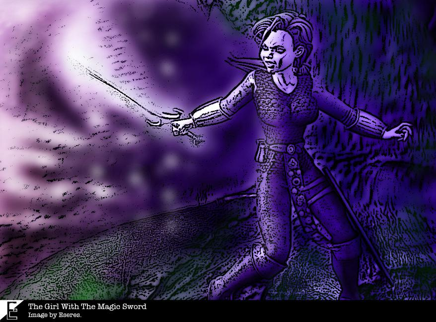 The Girl With The Magic Sword by Eseres