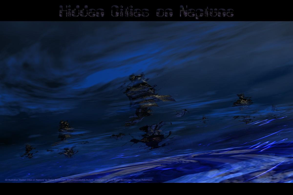 Hidden Cities on Neptune by CorporateArts