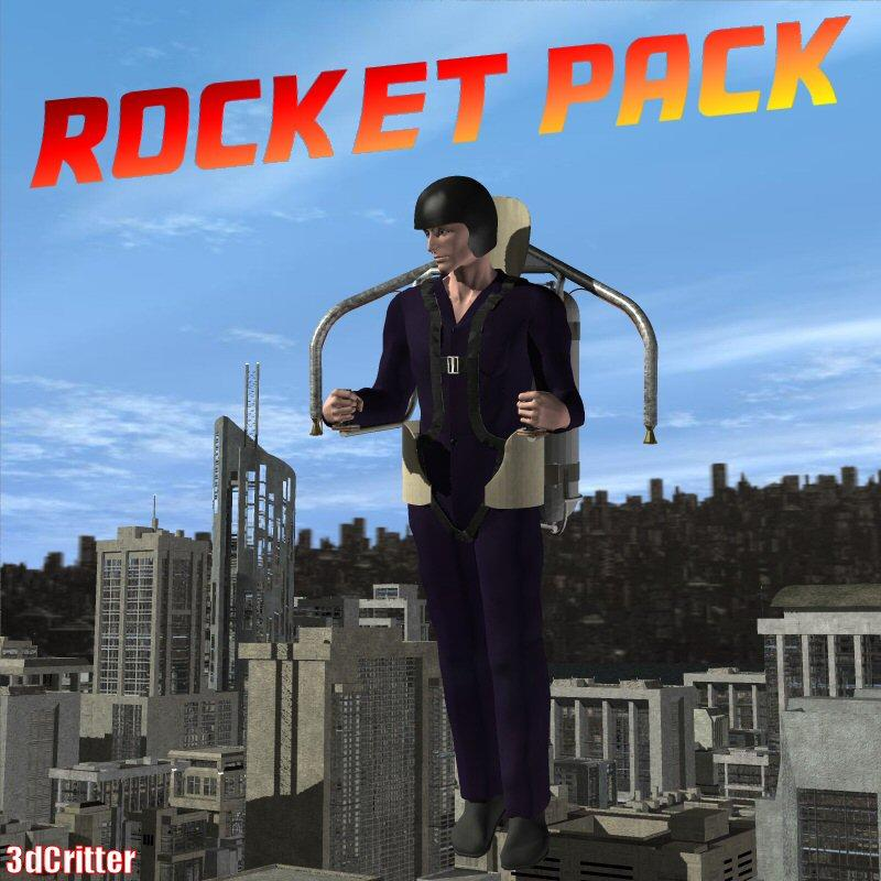 Rocket Pack for Poser