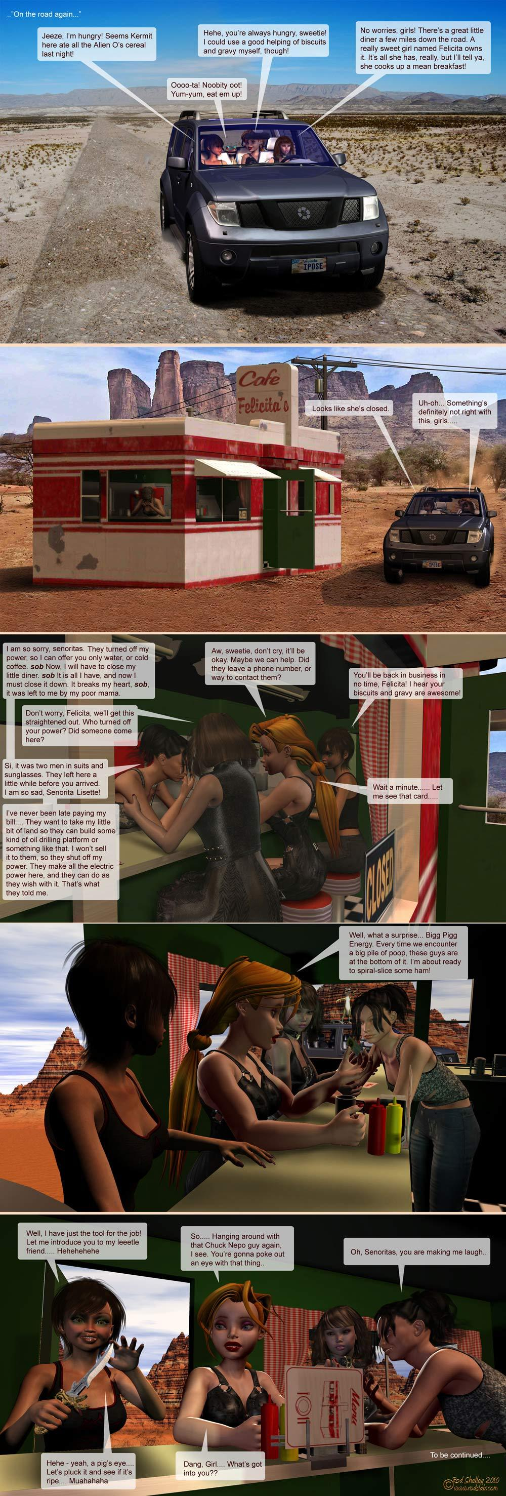 Girls From TNA: Brietlenger Jar Caper; Ch. 2 Pg.3 by RodS
