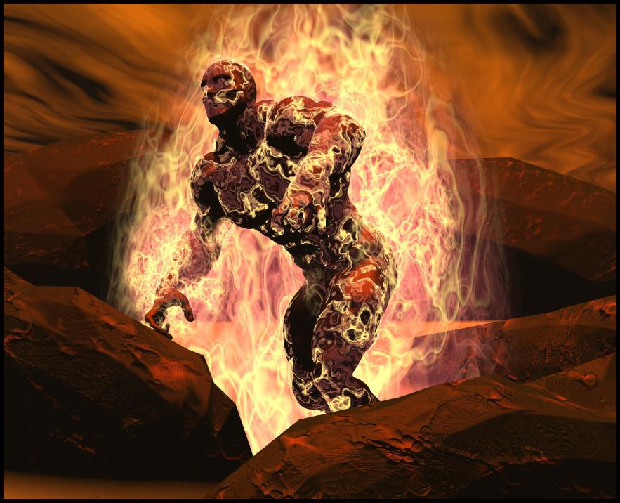 Fire Giant by chimneyphish