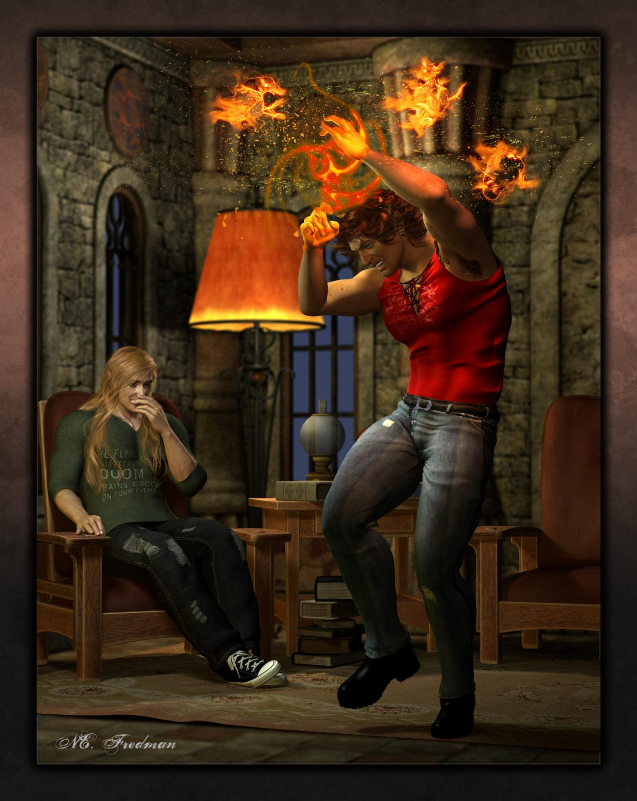 Holy Flaming Fire Chickens! (Ariolas and Coruanu) by nfredman