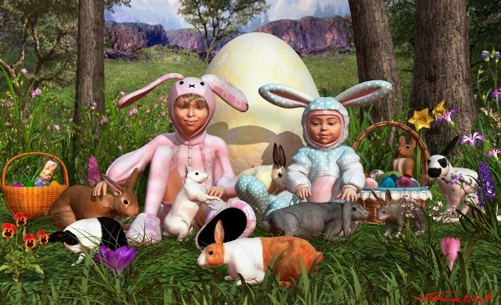 Happy Easter to all! by Crudelitas