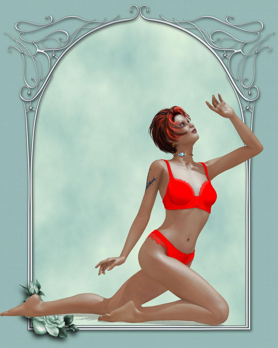 Red in Lingerie - Thank you Pat :) by KarenJ