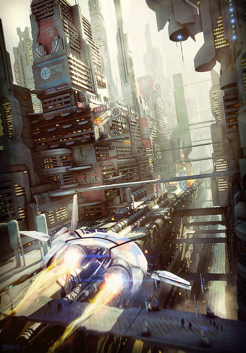 Sci-Fi City Canyon by stonemason