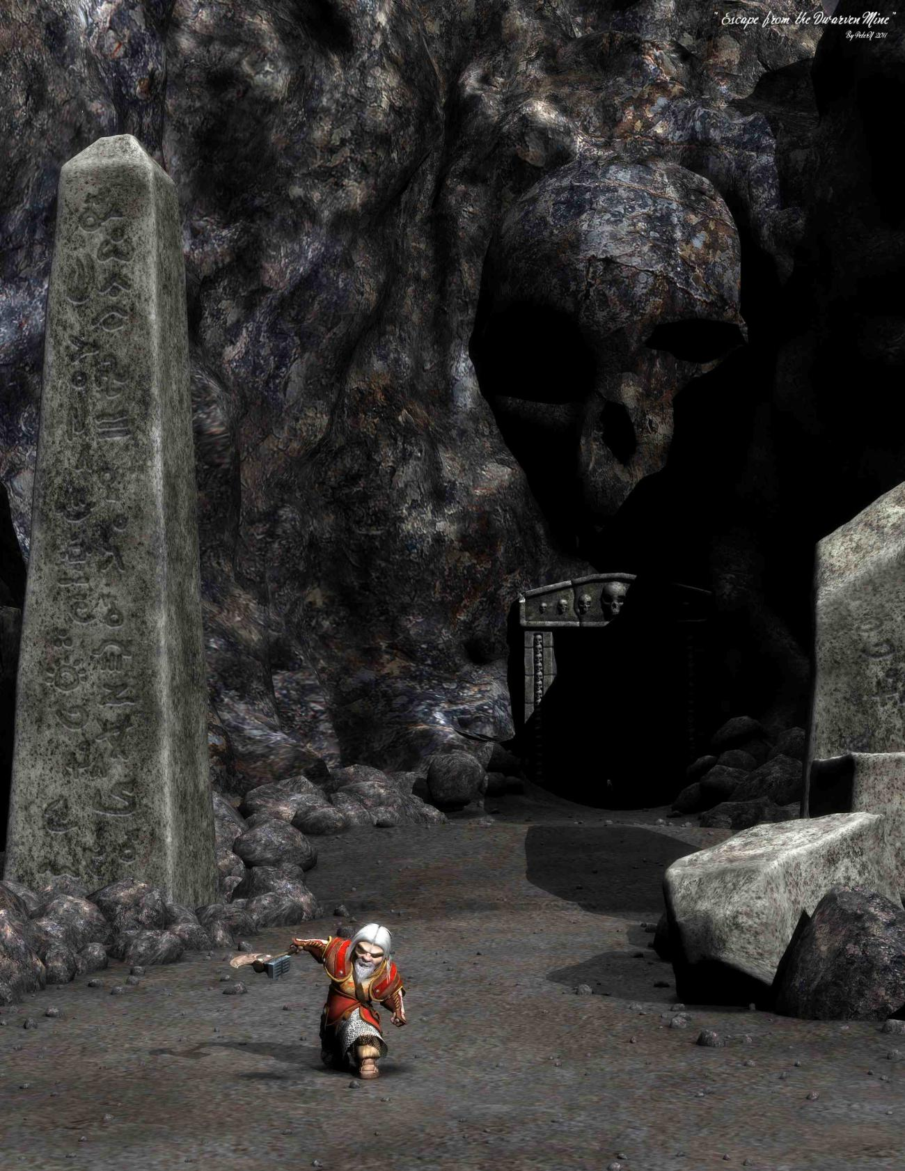 Escape from the Dwarven Mine by PeterN64