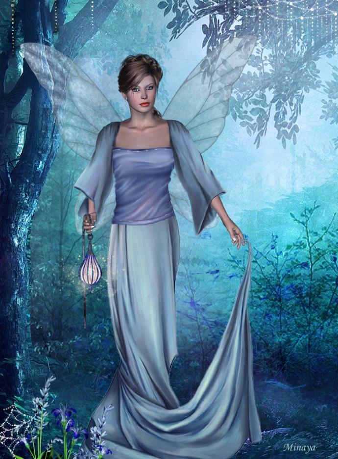 Fairy  in  the  enchanted  forest by Minaya